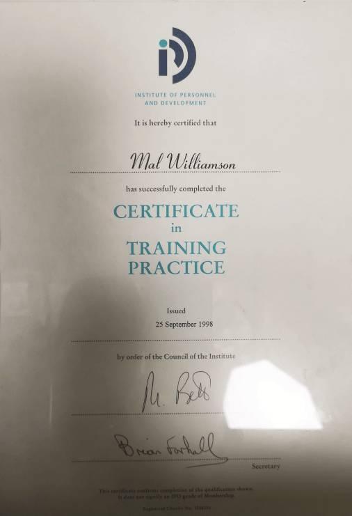 Certificate in Training Practice