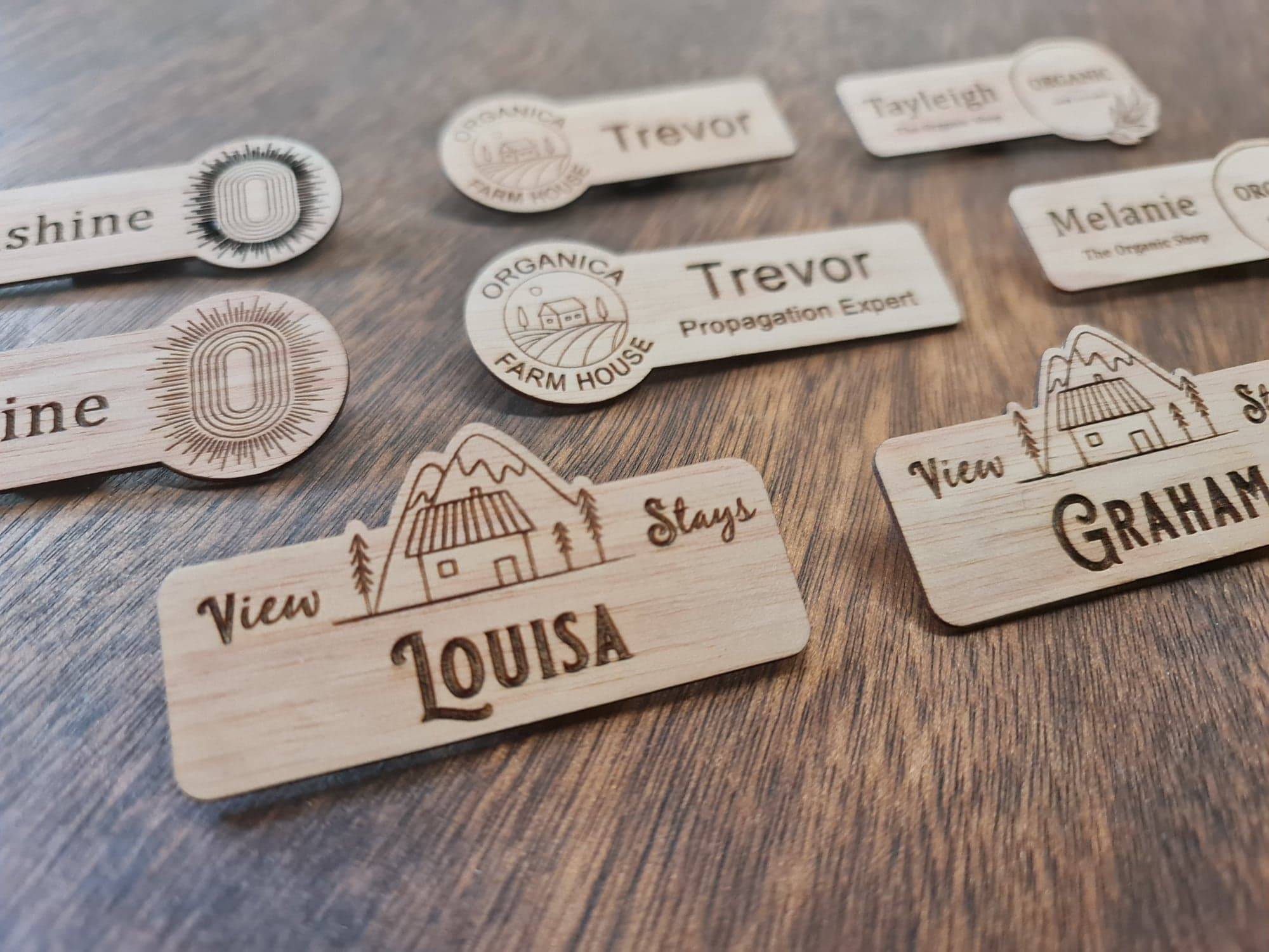Tag Shaped to Branding Customisable options