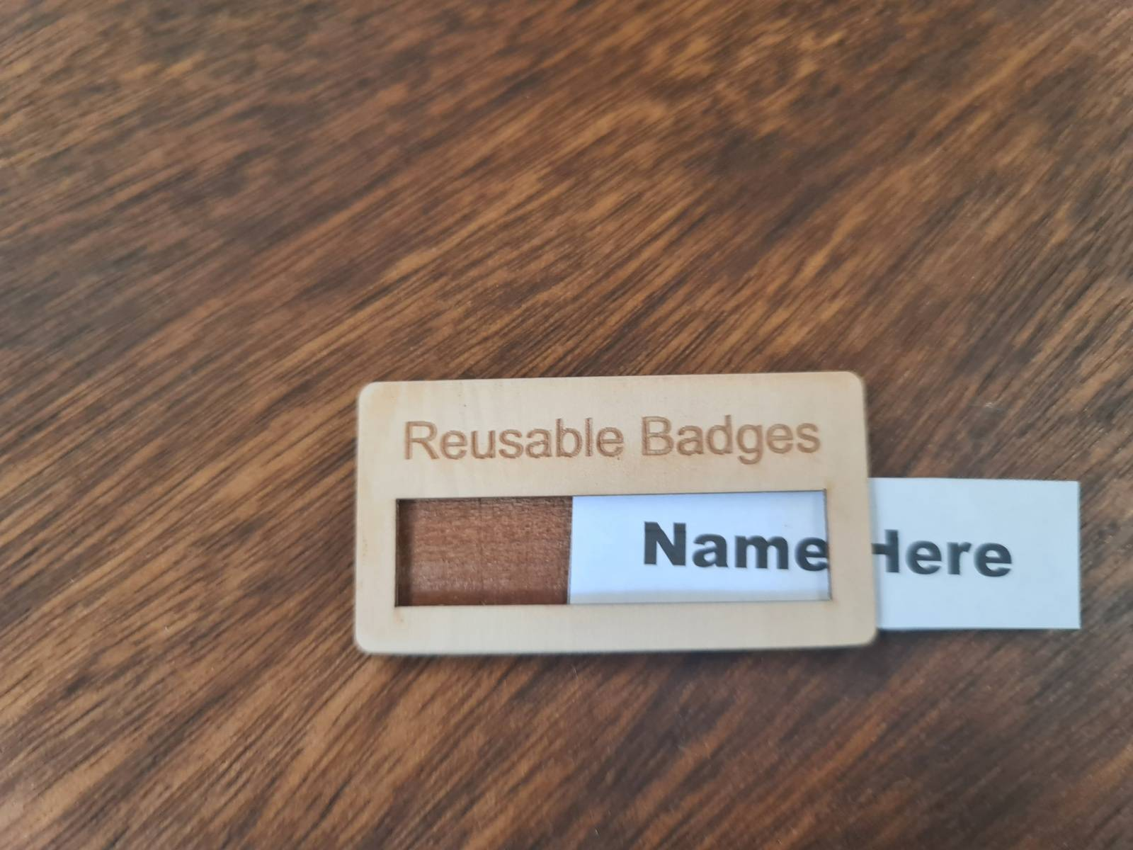 Name insert Badge with Pin or magnet fitting