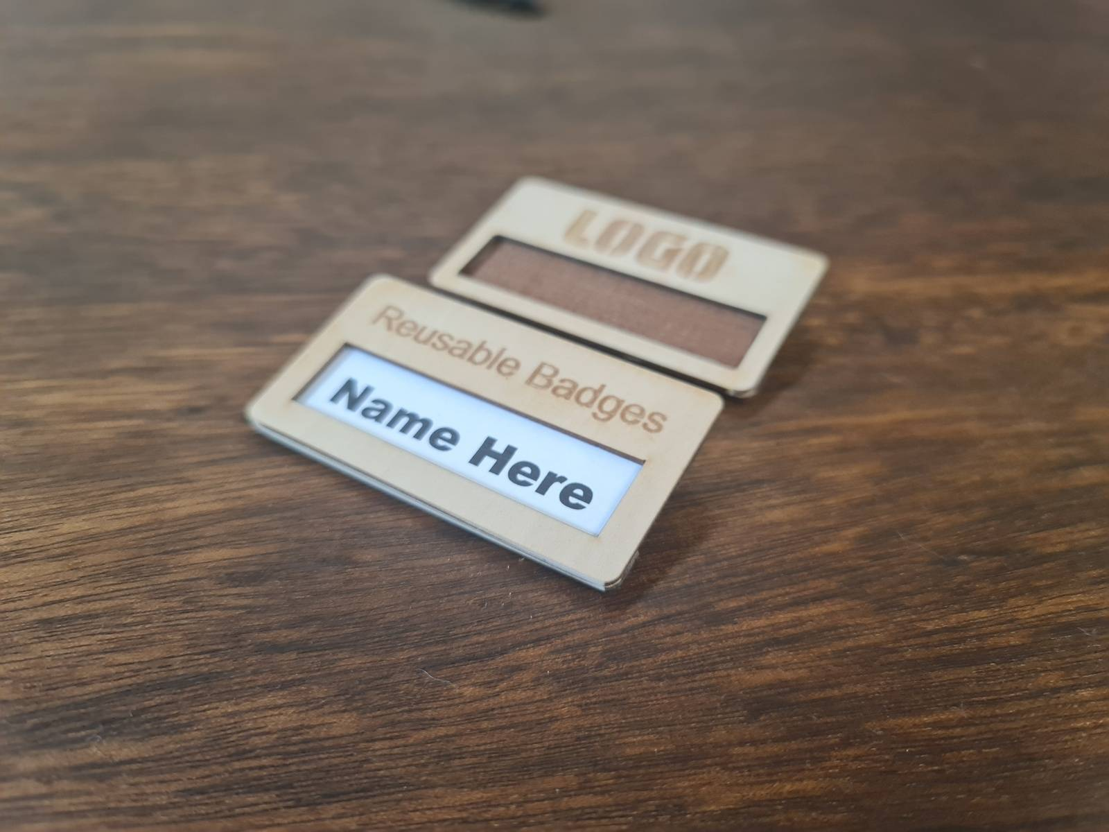 Eco Friendly Reusable Inser Name Badge