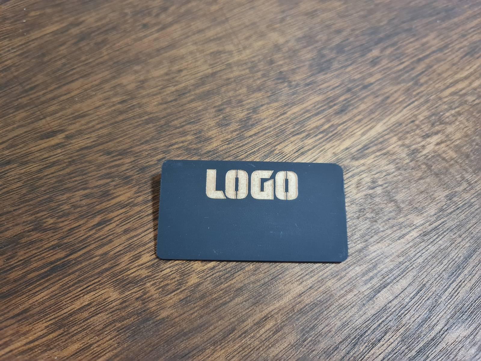 Blackboard Name Badge with Customised Logo