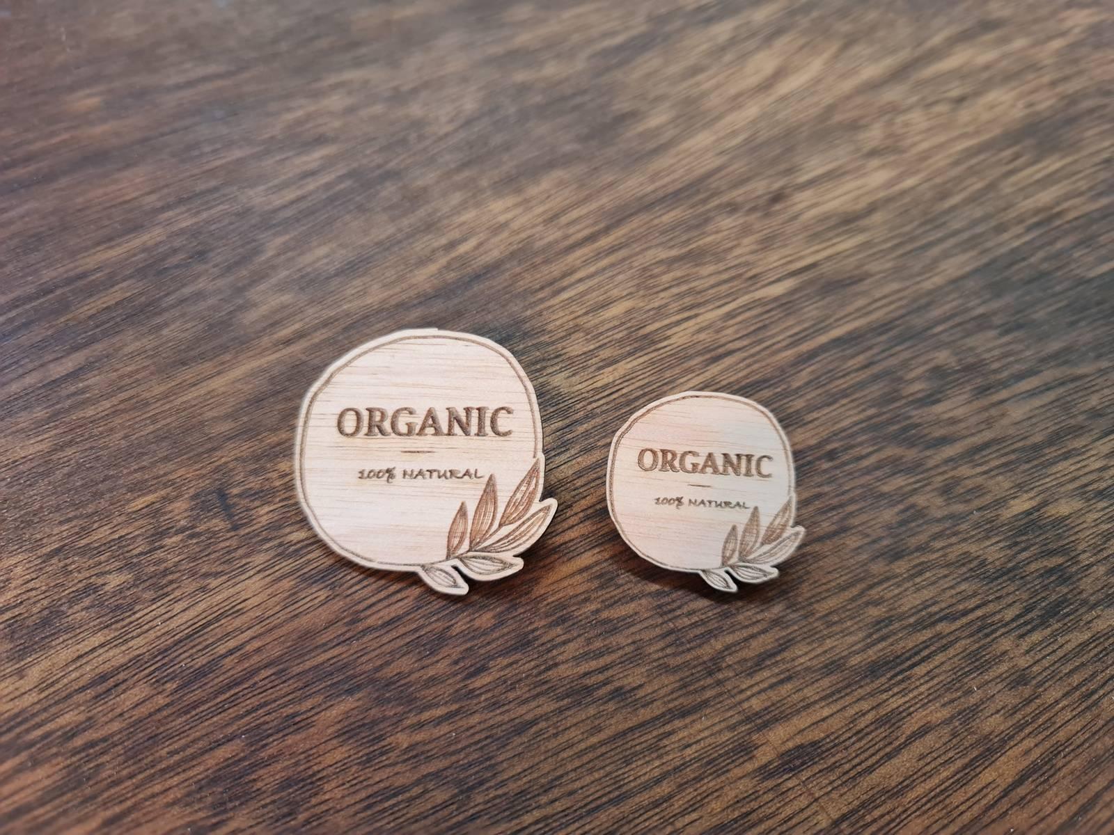 Customised Shape Organic Badge
