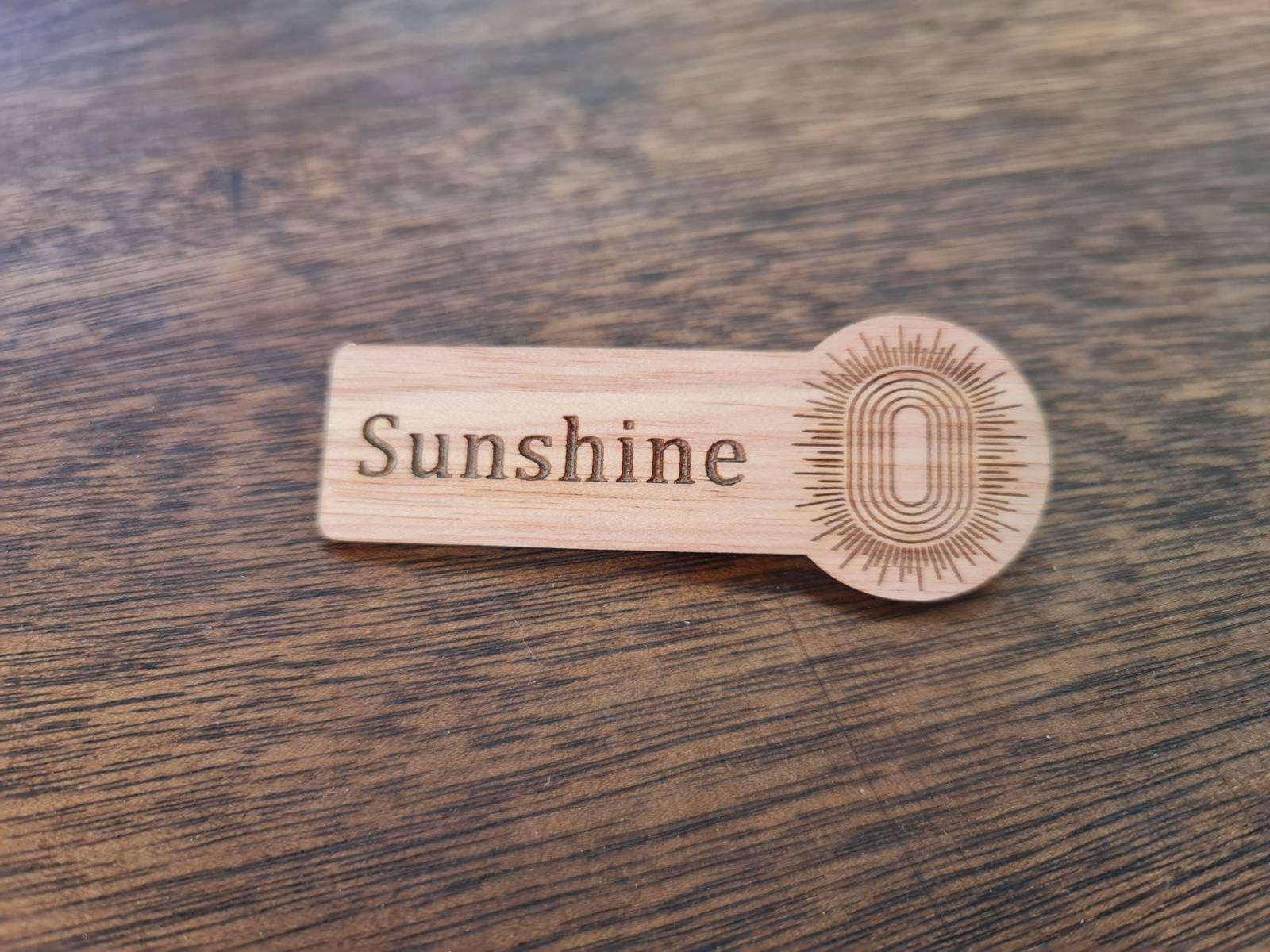Laser Engraved Wood Name Badge