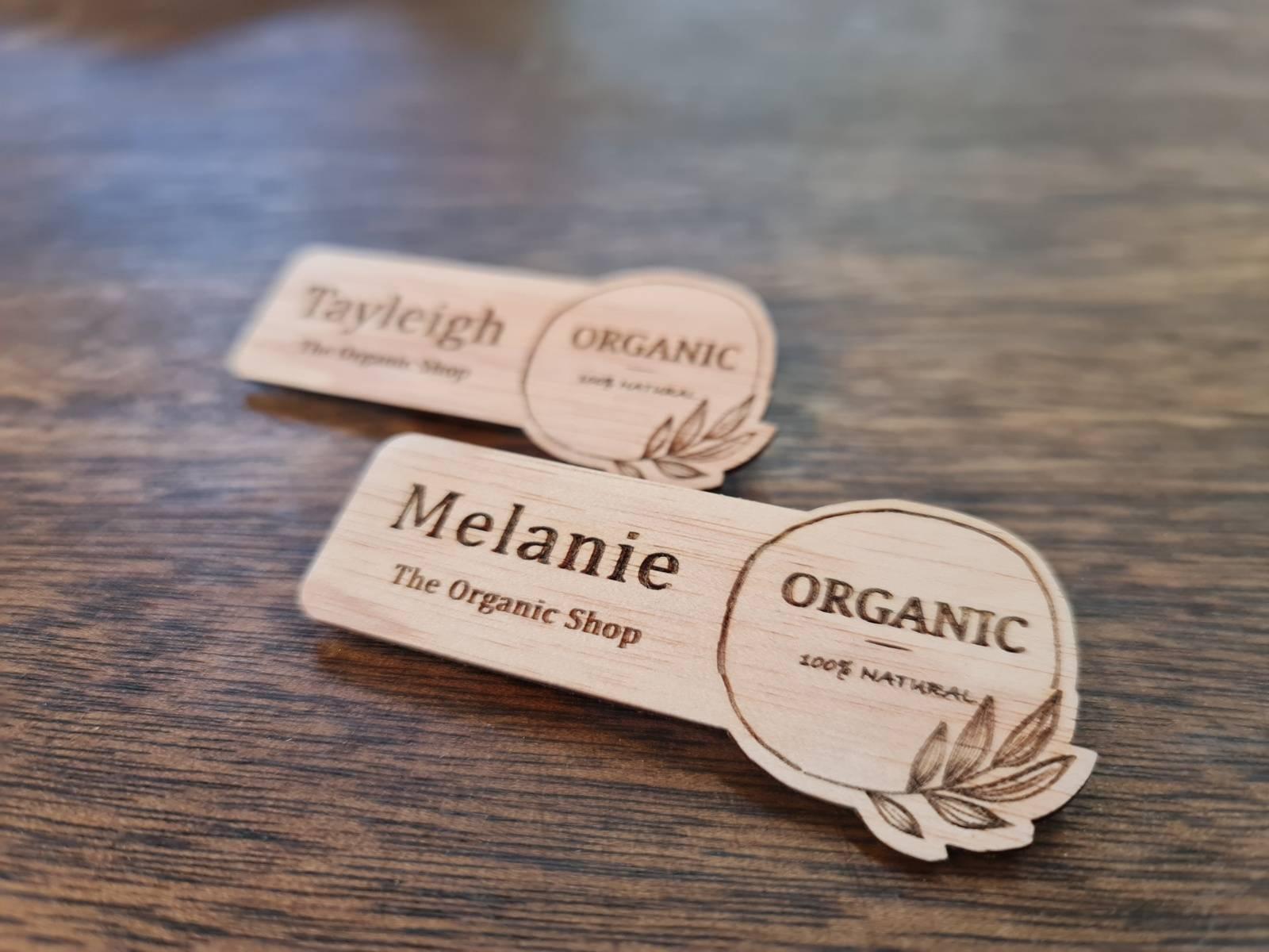 Organic Name Tag