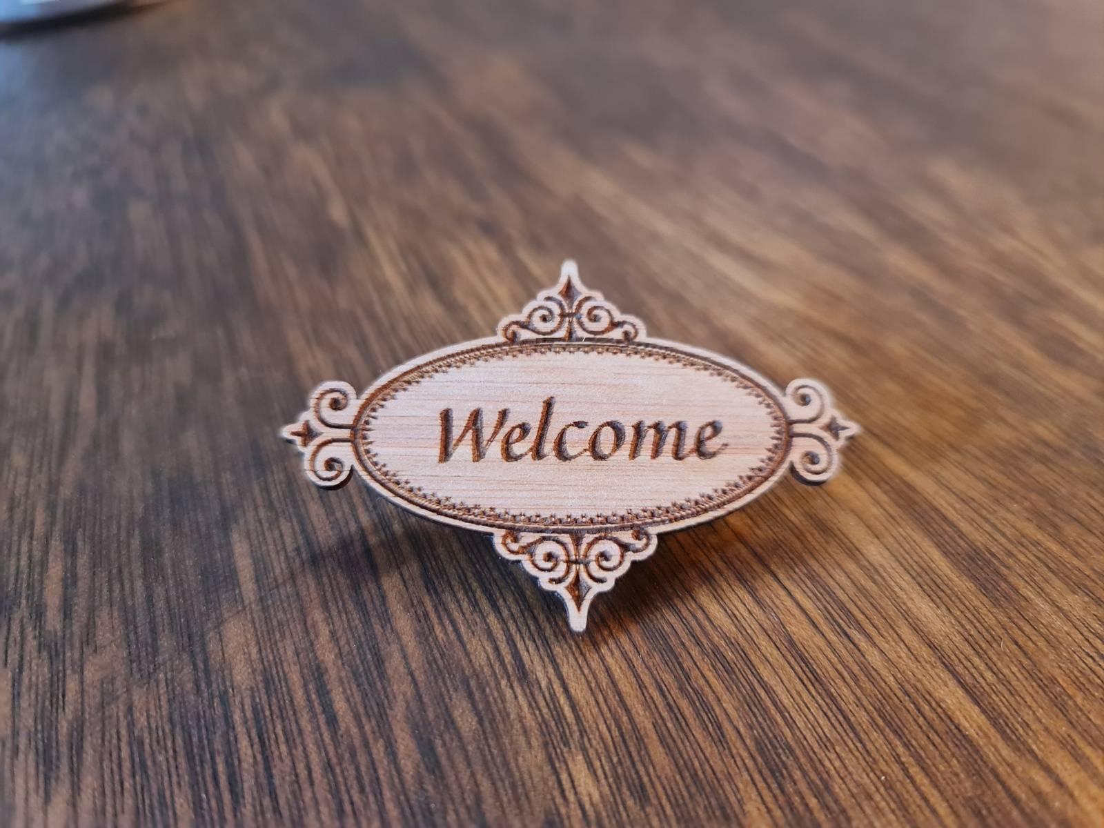 Designer Oval Badge - Welcome