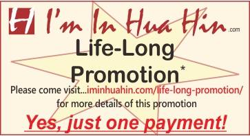 Text on coloured background indicating life-long promotion offer