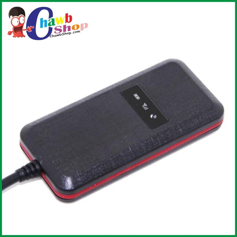 black gps tracker on white background with Chawbshop logo