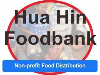 Circular logo of hua hin foodbank indicating a non profit food distribution in Hua Hin