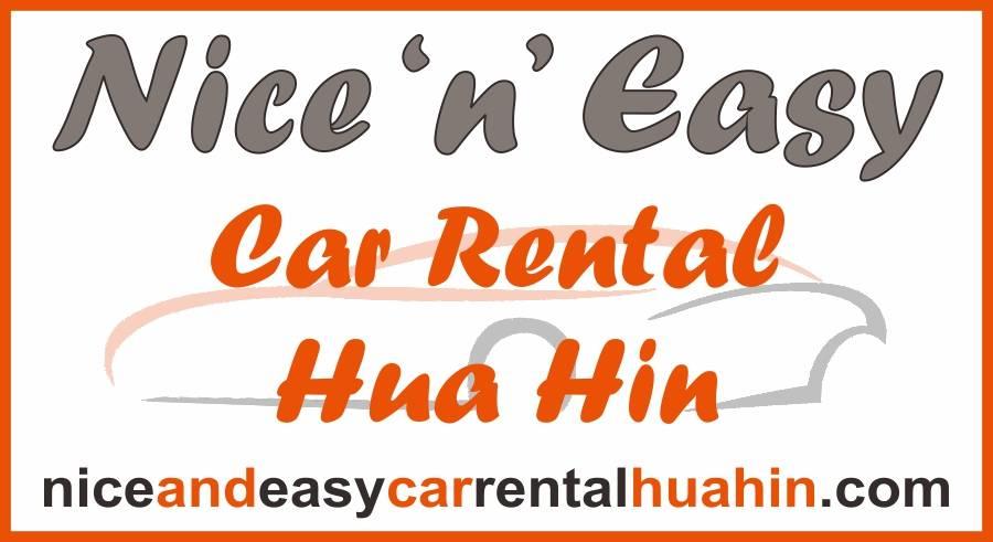 mixed colour text logo for nice and easy car rental hua hin