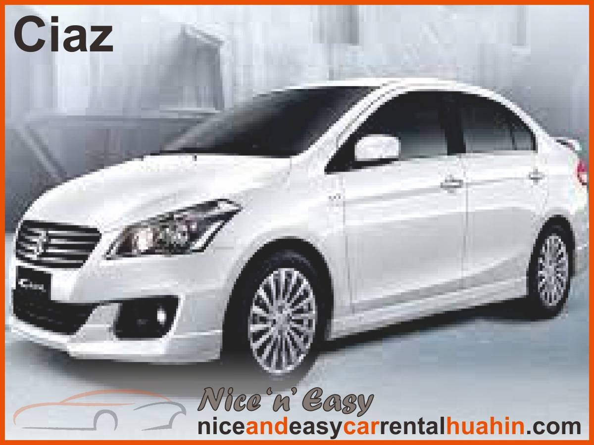 white suzuki ciaz available for rent