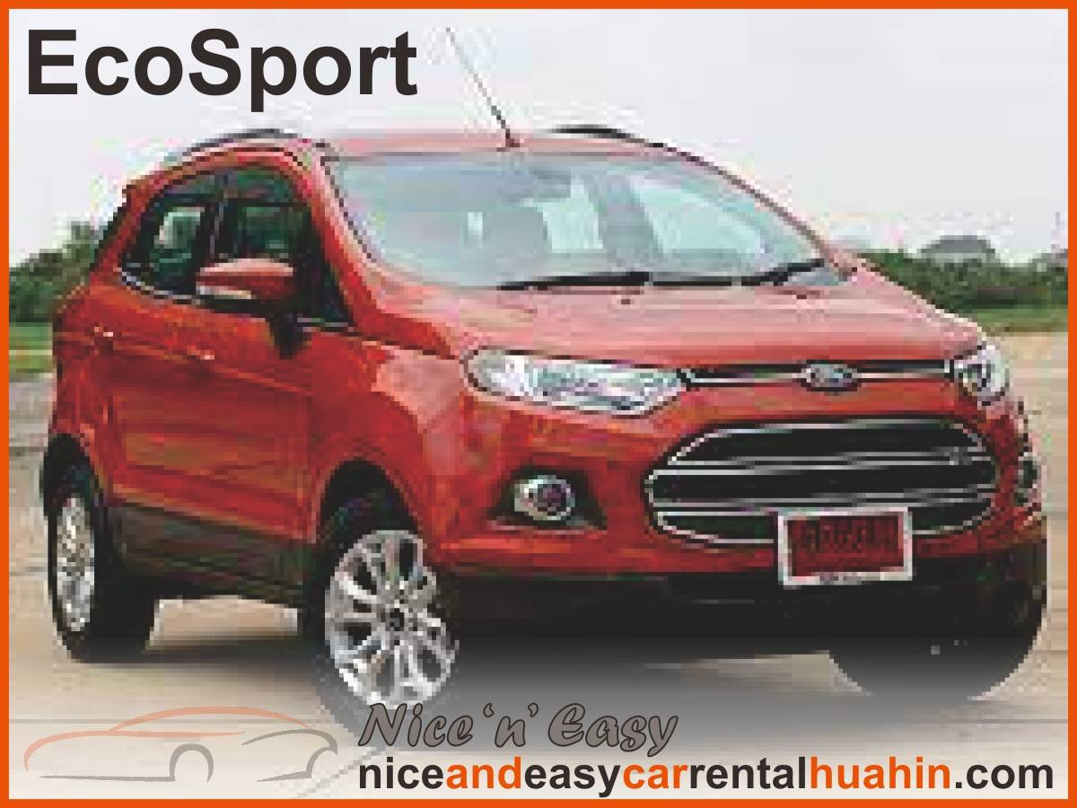 red ford ecosport available for rent