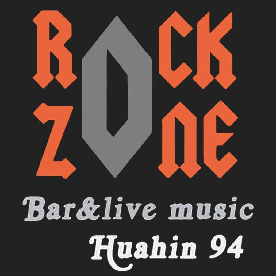 black background with Logo of Rock Zone Bar in Hua Hin