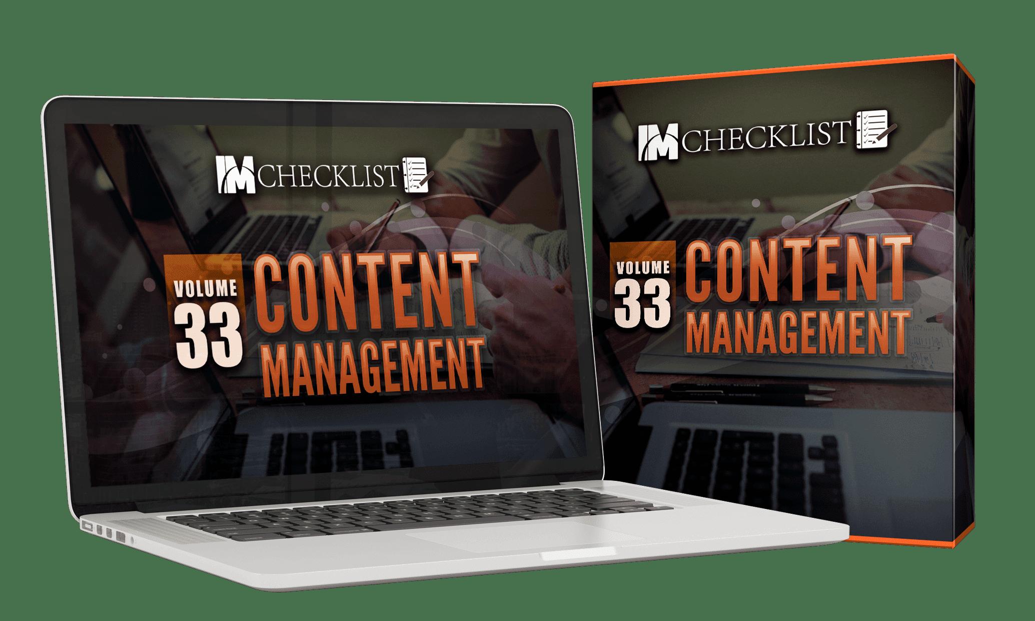 IM Checklist V33 Content Management