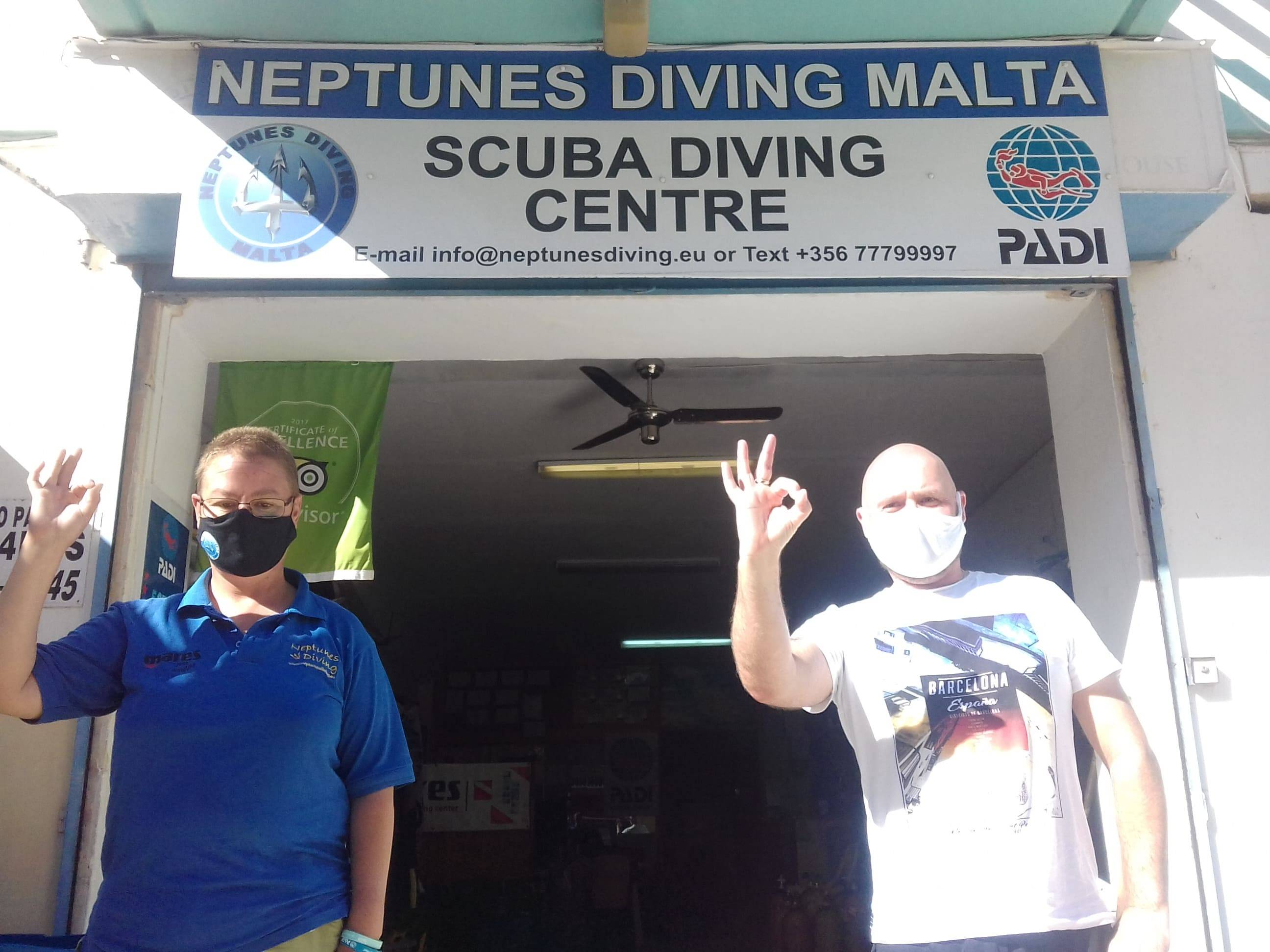 PADI Open Water Diver Course at Neptunes Diving Malta